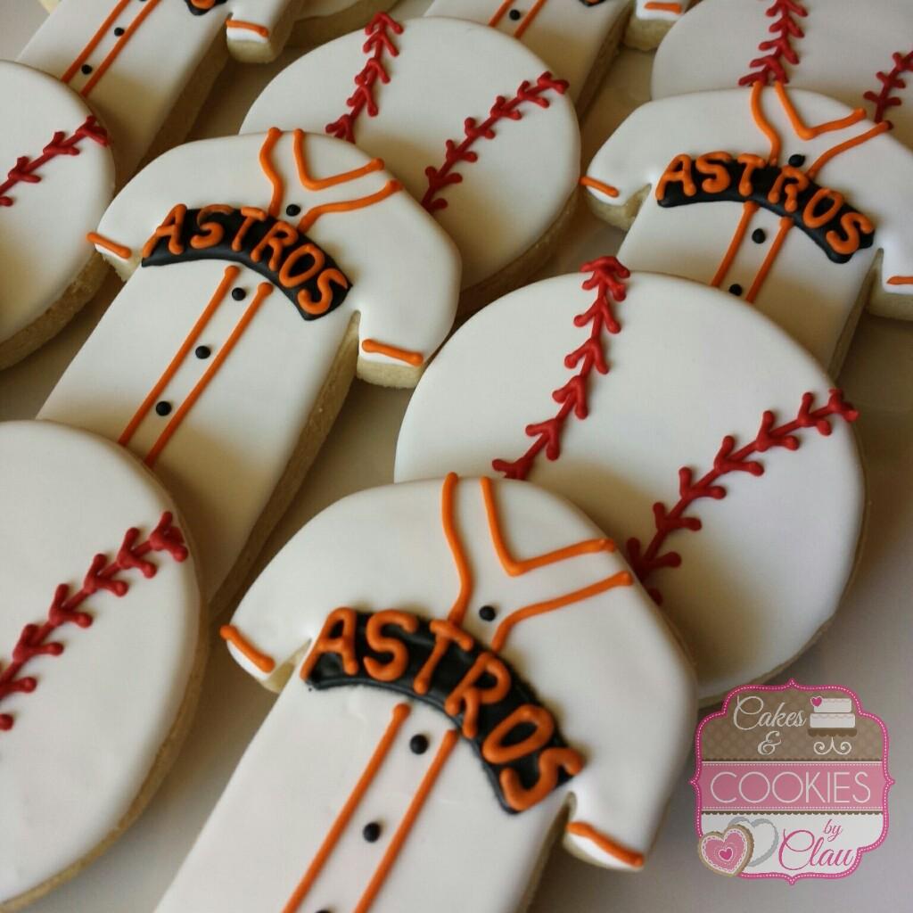 Houston Astros Baseball Cookies