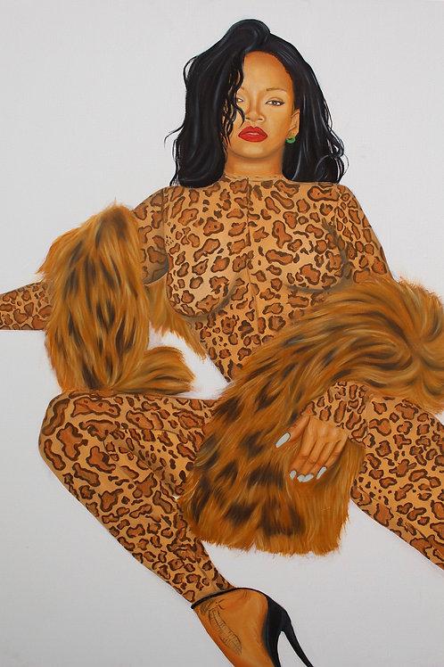 """Rihanna"" original painting"