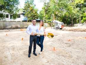 Ground Breaking Day with the Zamir's