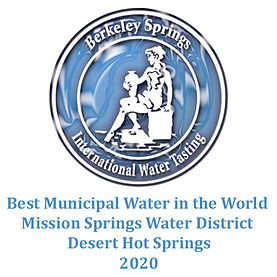 Desert Hot Springs voted best municipal water in the world at Berkley Springs International Water Tasting in 2020