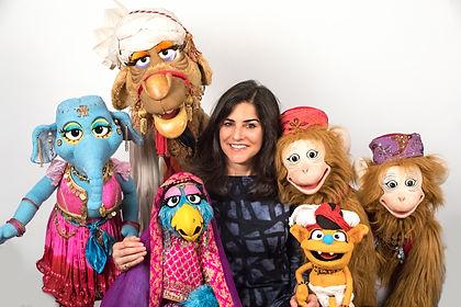 Sophia Ali and Puppet Cast