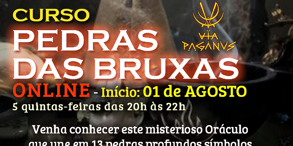 Curso Online - PEDRAS DAS BRUXAS - Oráculo de 13 pedras