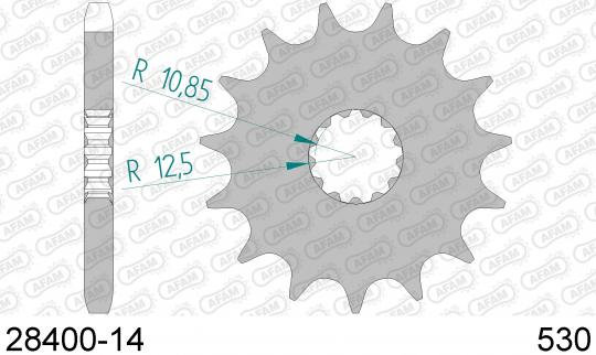 AFAM CounterShaft Front Sprocket 530