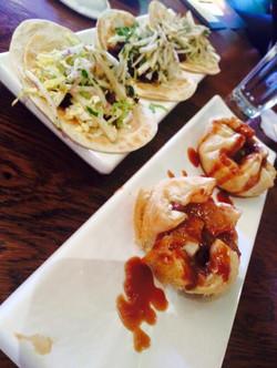 Duck Tacos & Apple Dumplings