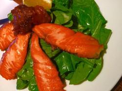 Sliced Salmon Salad
