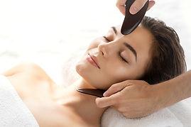 Guasha facial massage