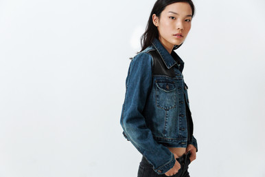 Faux Leather Personalisation on Denim