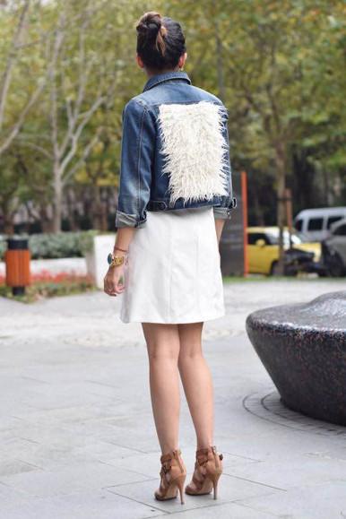 Faux Fur Fabric Personalisation on Denim