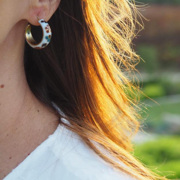 Cloisonne Hoop Earrings