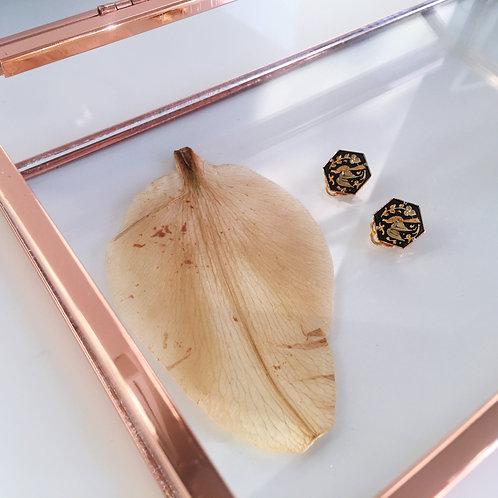 Damascene Clip-on Earrings