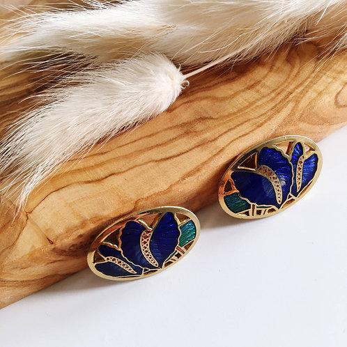 Cloisonne Clip-on Earrings