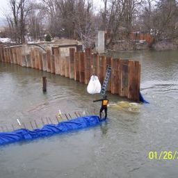 Cofferdam with sheet piles