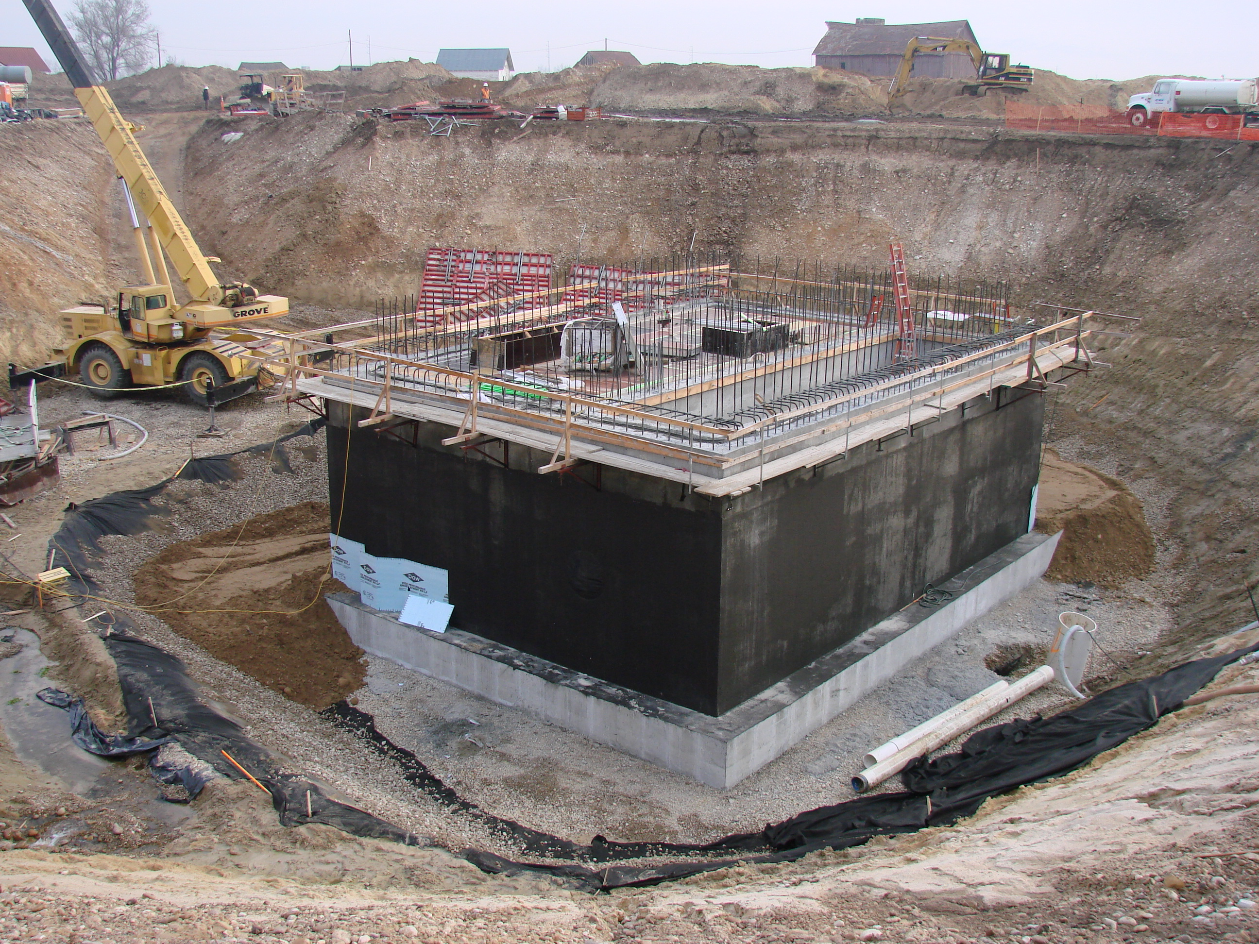 Foundation at 36' depth