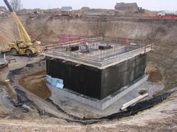 Foundation at 36' depth