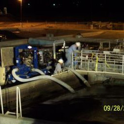 Dewatering at treatment plant