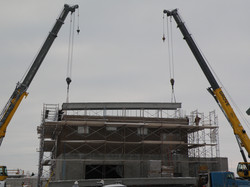 Placing Roof on Building