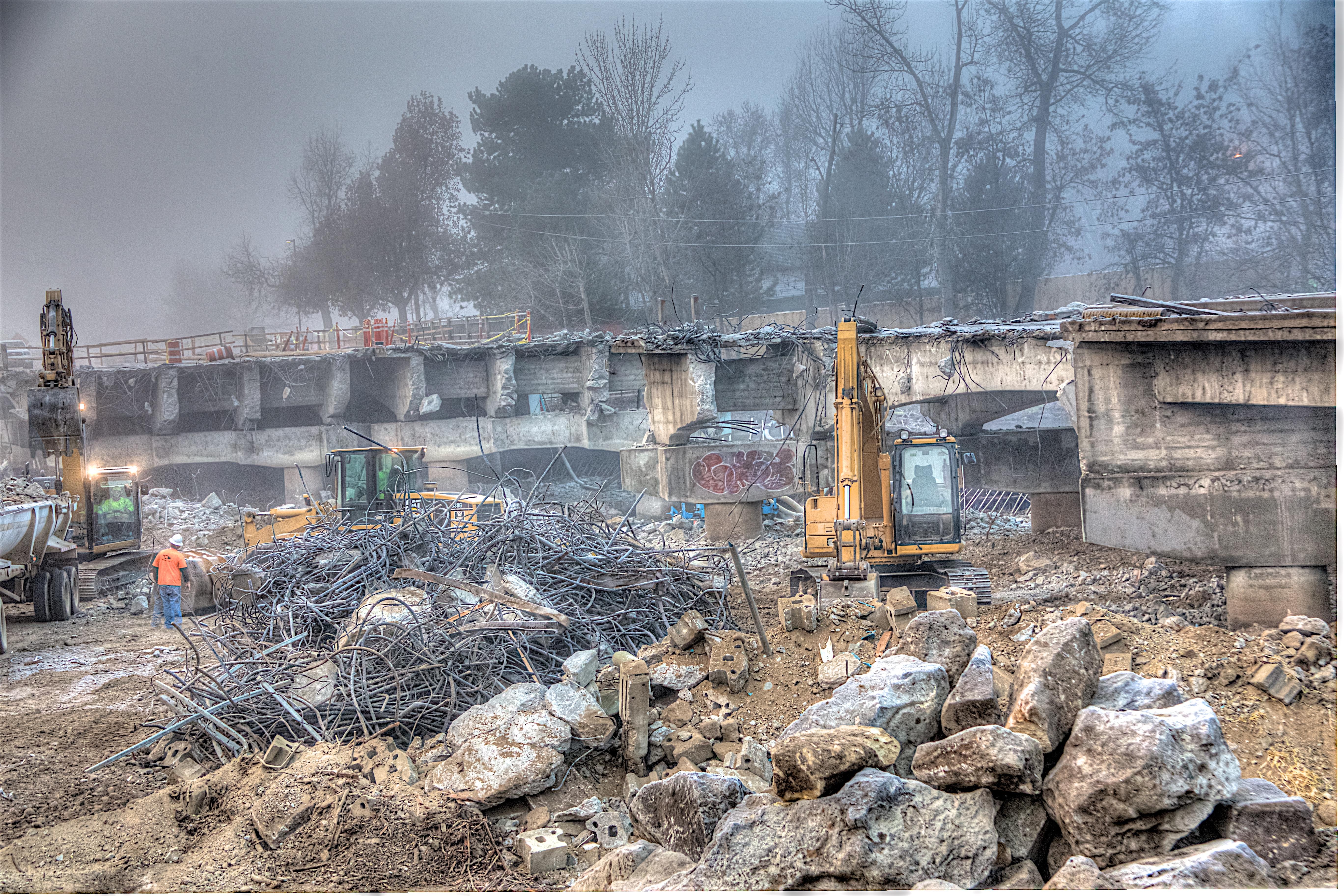 Broadway Bridge Demolition