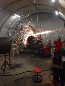 """Fabricating 24"""" and 30"""" Steel Pipe"""