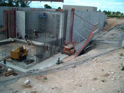 Deep concrete foundation