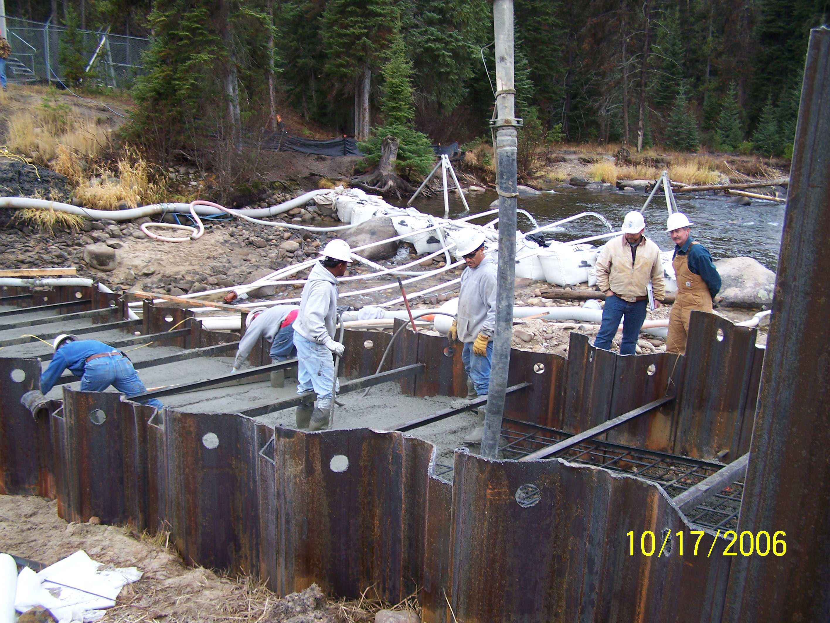 Dewatering for cutoff slab