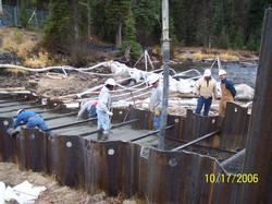 Dewatering for cutoff slab
