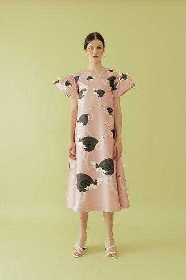 OSTRICH POLY DRESS