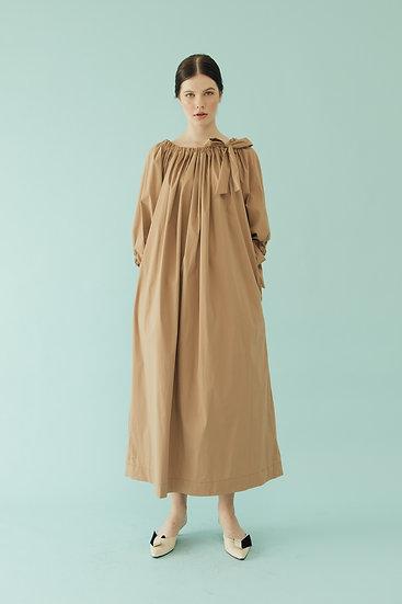 PUFF DRESS - MOCHA