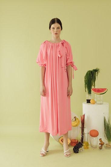 PUFF DRESS - SORBET PINK