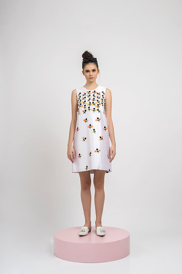 FLYING BEE EMBELLISHED DRESS