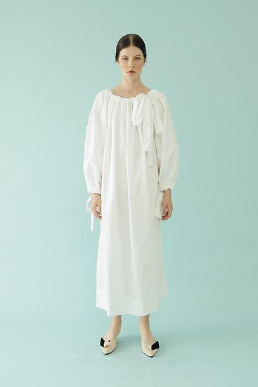 PUFF DRESS - WHITE