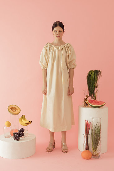 PUFF DRESS - CREAM