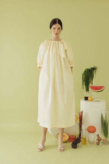 PUFF DRESS - BANANA YELLOW