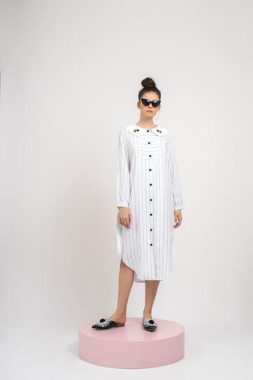 BEE COLLAR DRESS-2 BATCH LEFT