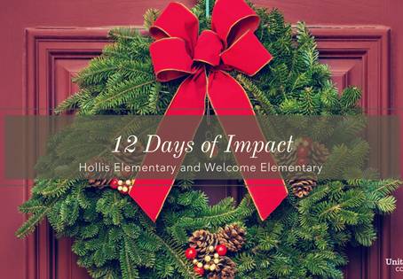 12 DAYS OF IMPACT- Hollis &Welcome Elementary Schools