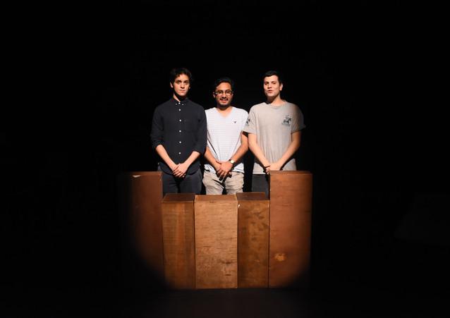 Emiliano, Joaquín y José Emilio.
