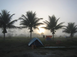 Camping Apaoka in früher Morgenstund