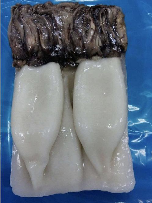 Squid/Calamari Tube and Tentacles, uncut      Wild, Asia       2.5 lb