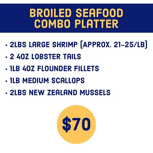 Broiled Seafood Combo Platter