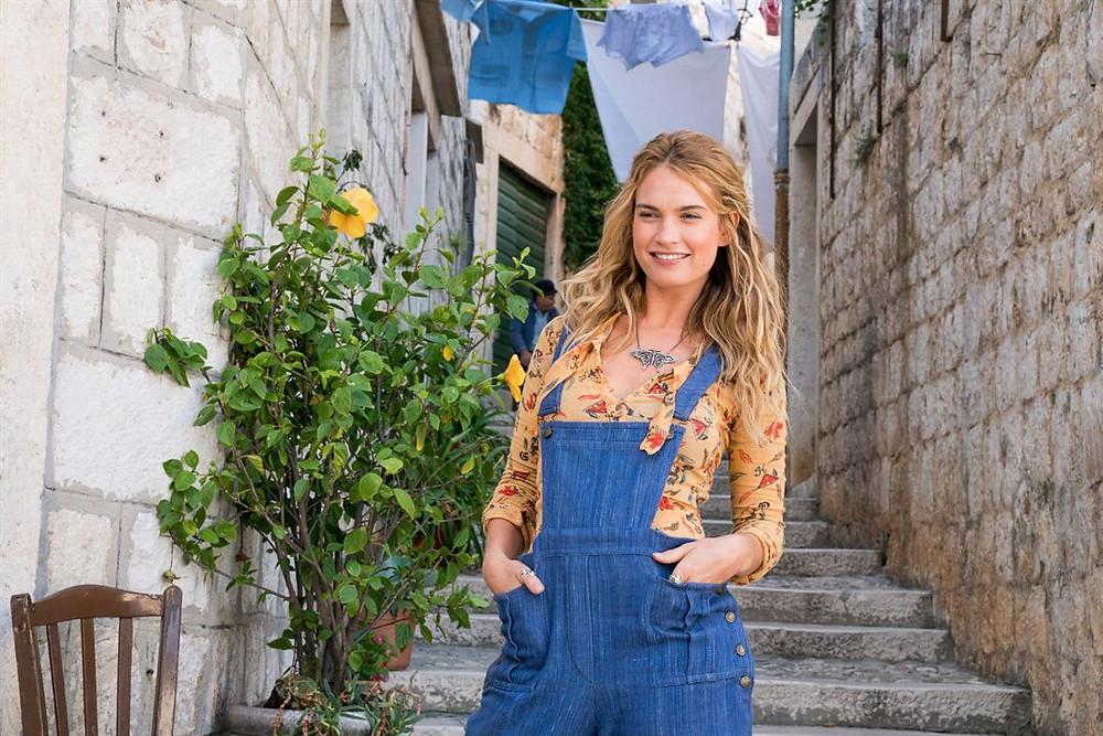 Lily James en Mamma Mia 2