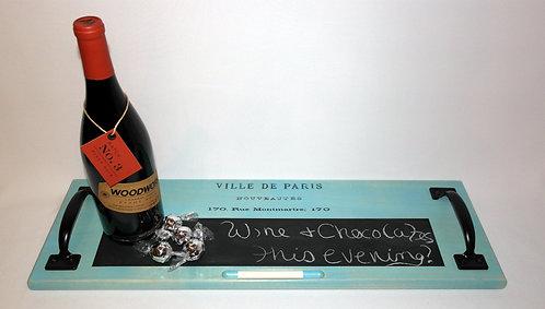 Blue Paris Chalkboard Tray