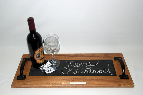 Red Chestnut Chalkboard Tray
