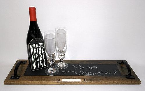 Dark Rustic Chalkboard Tray
