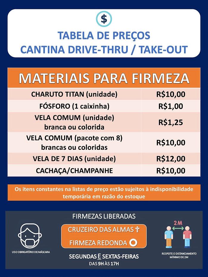Nova tabela de preços Drive Thru_digital