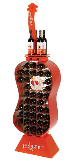Red Guitar Rack