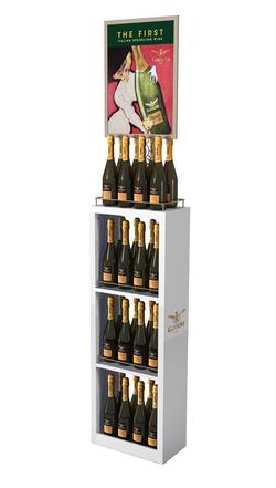 Bubbly Wine Display