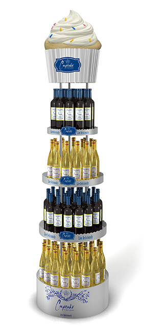 Cupcake Wine Display