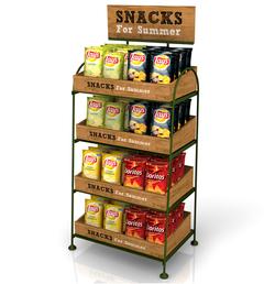 Chips Deli Wood Display