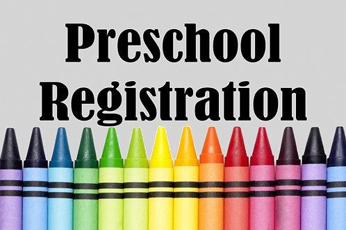 PreSchool Registration Fee