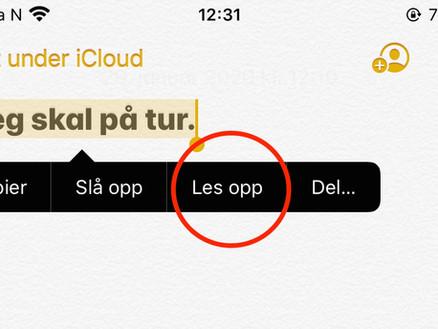 Opplesning: iPhone og iPad