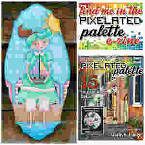 A Day at the Beach - Project available in the June issue of the Pixelated Palette